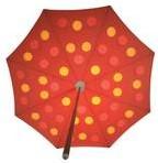 Sywawa Dot parasol 300 cm geel/roze, showmodel