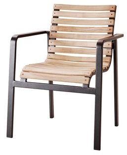 Cane-line Parc stoel met armleuningen lava-grey