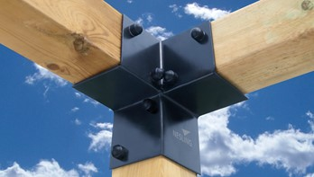Pergola kit, hoekelement (2 stuks), breedte 8,5 cm
