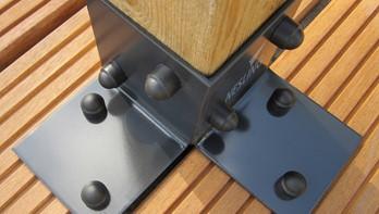 Pergola kit, vloerelement (2 stuks), breedte 8,5 cm