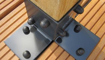 Nesling Pergola kit, vloerelement (2 stuks), breedte 8,5 cm