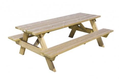 Picknicktafel Bokito, afm. 220 x  150 cm, geïmpregneerd grenen, houtdikte 45 mm