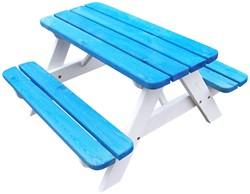 Kinderpicknicktafel, bladmaat 90 x 38 cm, blauw/wit