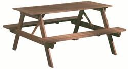 Picknicktafel, bladmaat 150 x 70 cm, hardhout, houtdikte 28 mm