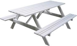 Picknicktafel, afm. 150 x 73 cm, FSC grenen, wit