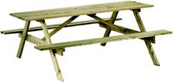 Picknicktafel, bladmaat 180 x 70 cm, houtdikte 28 mm, geimpregneerd grenen