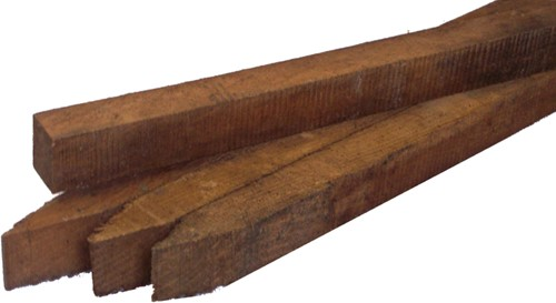 robinia (piket-)paaltje, ruw, afm.  2,7 x   3,0 cm, lengte 100 cm, b-keus