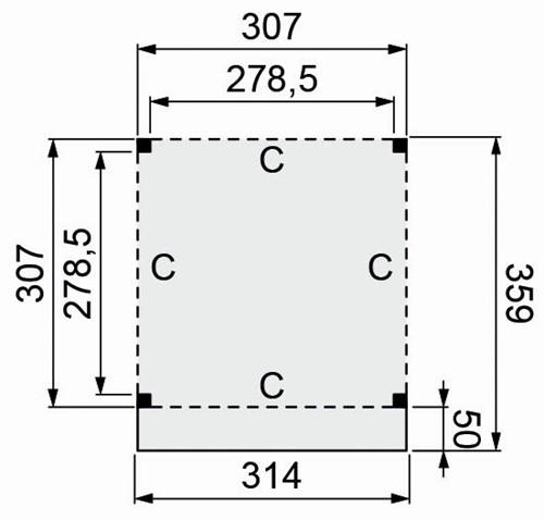 Douglasvision buitenverblijf Modulair, afm 310 x 310/359 cm, douglas-2