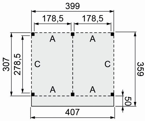Douglasvision buitenverblijf Modulair, afm. 400 x 310/359 cm, douglas-2