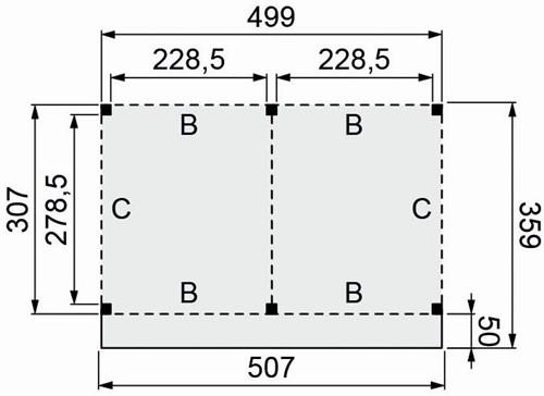 Douglasvision buitenverblijf Basis, afm. 500 x 310/359 cm, douglas-2