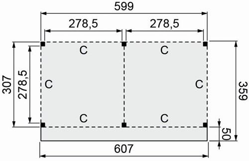 Douglasvision buitenverblijf Basis, afm. 600 x 310/359 cm, douglas -2