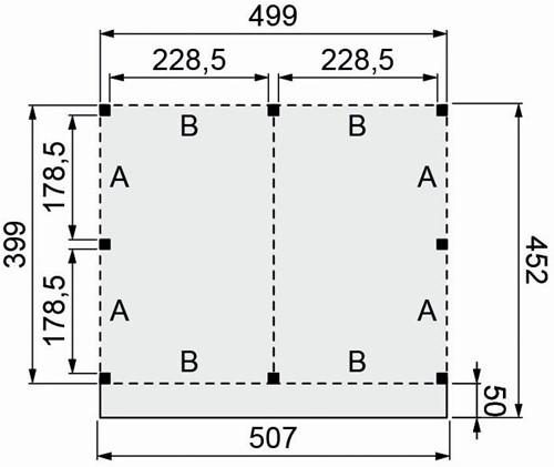 Douglasvision buitenverblijf Basis, afm. 500 x 400/452 cm, douglas -2