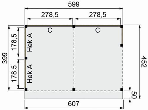 Douglasvision Buitenverblijf Basis, afm. 600 x 400/452 cm, douglas -2