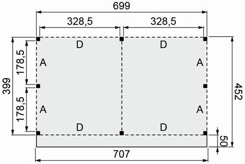 Douglasvision buitenverblijf Basis, afm. 700 x 400/452 cm, douglas -2