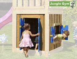 Houtpakket voor Jungle Gym Playhouse module, laag model 125 cm, op maat gezaagd