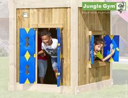 Houtpakket voor Jungle Gym Playhouse module, hoog model 145 cm, op maat gezaagd