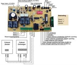 Superjack printplaat voor SuperJack/EasyJack hekopeners SJ 101/501/601, standaard