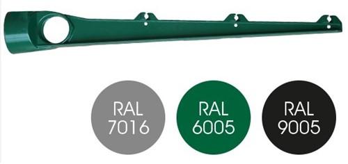 Paalopstand recht voor 48mm palen, RAL 9005 zwart