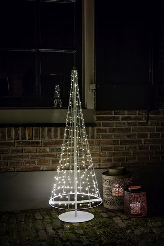 Kerstboom Santas Tree XXL, Silver, hoogte 100 cm, 250 LEDs