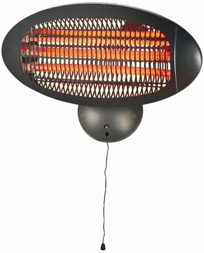 Sunred elektrische terrasheater WMQ2000A, Quartz, vermogen 2000 W, wandmodel