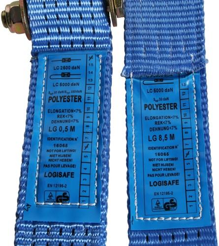 Spanband met ratel, 5000 kg, breedte 50 mm, lengte 9 m-2