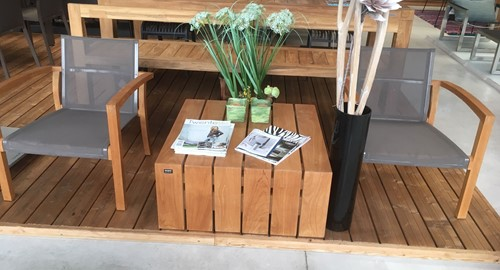 Royal Botania XQI loungestoel met Borek Miami tafel