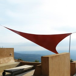 Umbrosa Ingenua schaduwzeil, driehoek 90 graden, afm. 4 x 5 x 6,4 m, Premium doek