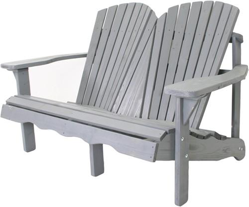 Relax tuinbank 2-zits, afm. 137 x 98 x 90 cm, grijs grenen