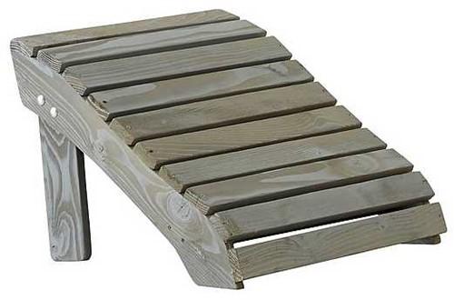 Relax voetsteun, afm. 51 x 48 x 36 cm, grijs grenen