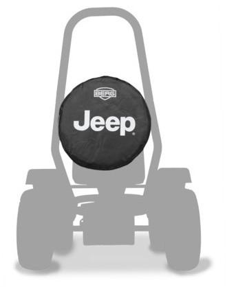 BERG reservewiel voor skelter Jeep, zwart