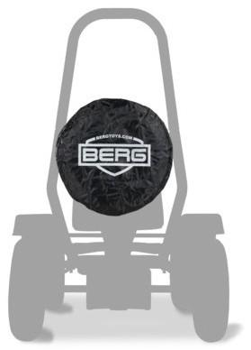 BERG reservewiel voor skelter X-Cross, zwart