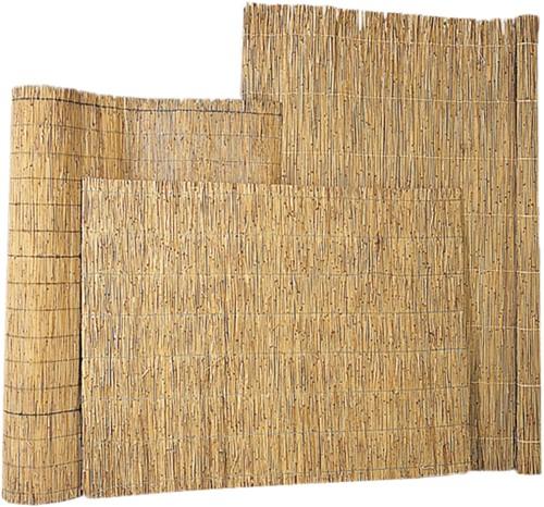 rieten decoratiemat op rol, afm. 160 x 600 cm