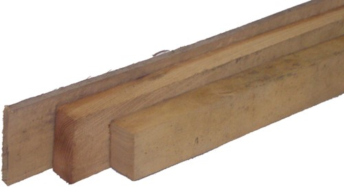 robinia balk, ruw, afm.  5,0 x 10,0 cm, lengte 200 cm