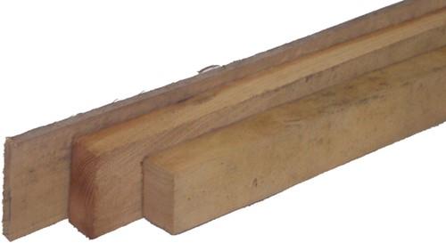 robinia balk, ruw, afm.  6,0 x 12,0 cm, lengte 200 cm