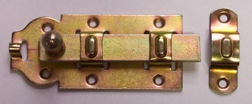 Rolschuif, vlak, lengte 100 mm, gegalvaniseerd
