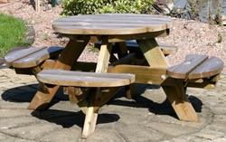 Kinderpicknicktafel, rond, afm. Ø 63 cm, geimpregneerd grenen