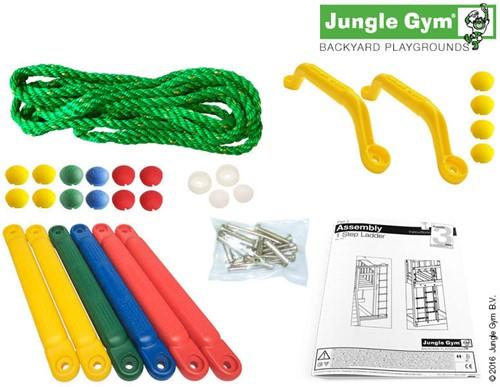 Jungle Gym touwladder, kunststof treden-2