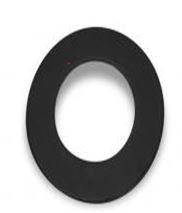 Burni verwarming Forno ovale rozet - 150 mm - corten staal