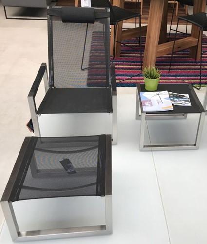 Royal Botania Ninix relaxstoel met bijzettafel