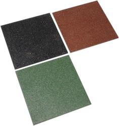 Rubbertegel, afm. 50 x 50 x 3 cm, groen