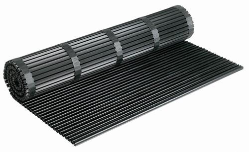 RiZZ schoonloopmat, op maat gemaakt, frameloos, zwart, per m^2