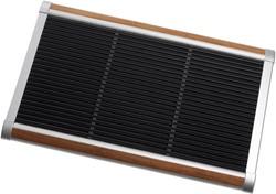 RiZZ schoonloopmat, afm.  90 x 60 cm, zilverkleurig aluminium frame, teak inleg