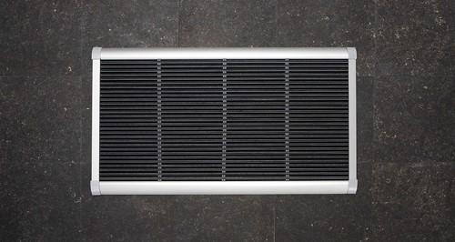 RiZZ schoonloopmat, afm. 120 x 70 cm, zilverkleurig aluminium frame