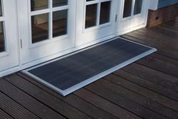 RiZZ schoonloopmat, afm. 175 x 70 cm, zilverkleurig aluminium frame