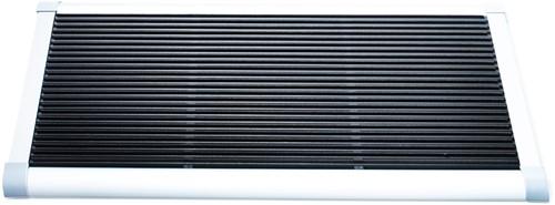 RiZZ schoonloopmat, afm.  90 x 60 cm, wit aluminium frame