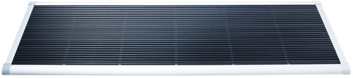 RiZZ schoonloopmat, afm. 175 x 70 cm, wit aluminium frame