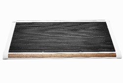 RiZZ schoonloopmat, afm.  90 x 60 cm , wit aluminium frame, teak inleg