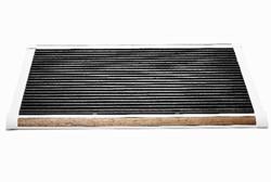 RiZZ schoonloopmat, afm.  120 x 70 cm, wit aluminium frame, teak inleg