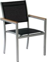 Tuinset Satelite: Star tafel afm. 160 x 100 cm, 4 stoelen met teak armleggers-2