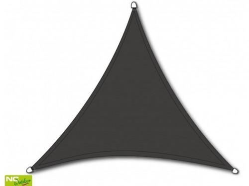 NC Outdoor schaduwdoek, driehoek, afm. 5,0 x 5,0 x 5,0 m, antraciet